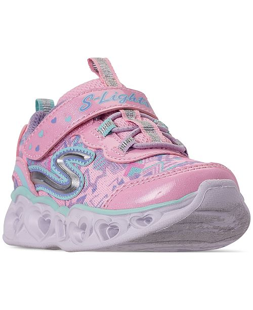 Skechers Toddler Girls' S Lights: Heart Lights Slip-On Casual Sneakers from Finish Line