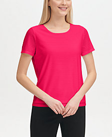 Calvin Klein Damask-Stripe T-Shirt