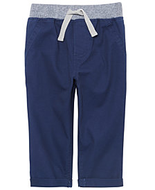 First Impressions Baby Boys Ribbed-Waist Pants