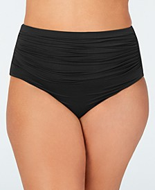 Plus Size High-Waist Swim Bottoms