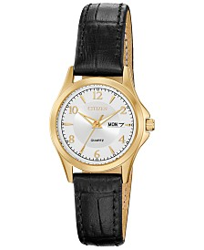 Citizen Women's Quartz Brown Leather Strap Watch 28mm