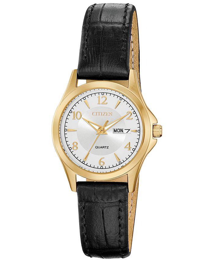 Citizen - Women's Quartz Brown Leather Strap Watch 28mm