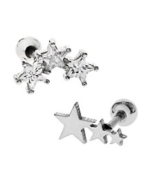 Bodifine Stainless Steel Set of 2 Star Tragus