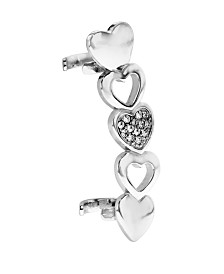 Bodifine Stainless Steel Heart Ear Cuff