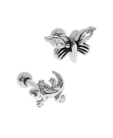 Bodifine Stainless Steel Set of 2 Animal Tragus