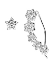 Bodifine Sterling Silver Ear Climber and Stud Set