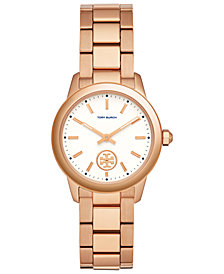 Tory Burch Women's Collins Rose Gold-Tone Stainless Steel Bracelet Watch 33mm