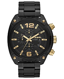 Diesel Men's Chronograph Overflow Black Stainless Steel Bracelet Watch 49mm