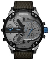 3c309ab5666 Diesel Men s Chronograph Mr. Daddy 2.0 Black Nylon Strap Watch 57mm