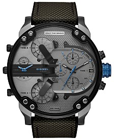 Diesel Men's Chronograph Mr. Daddy 2.0 Black Nylon Strap Watch 57mm