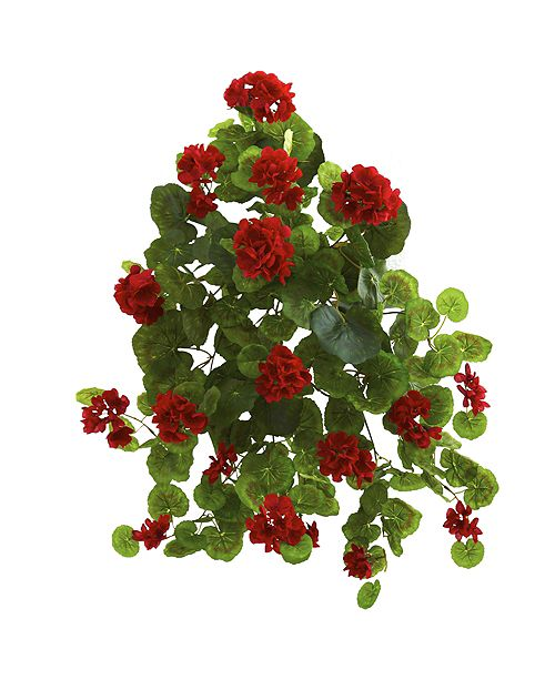 "Nearly Natural 26"" Geranium Artificial Plant, Set of 2"