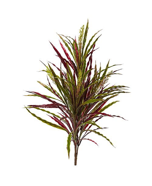 "Nearly Natural 28"" Fall Vanilla Grass Artificial Plant, Set of 3"