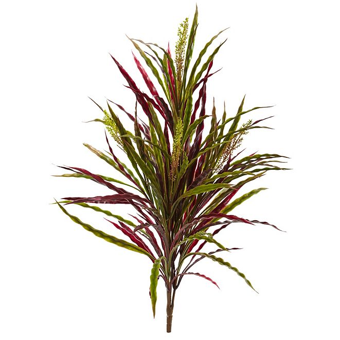 """Nearly Natural 28"""" Fall Vanilla Grass Artificial Plant, Set of 3"""