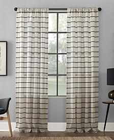 """Clean Window Twill Stripe Anti-Dust Curtain Panel, 52"""" x 84"""""""