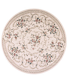"KAS Avalon Aubusson 7'10"" Round Area Rug"