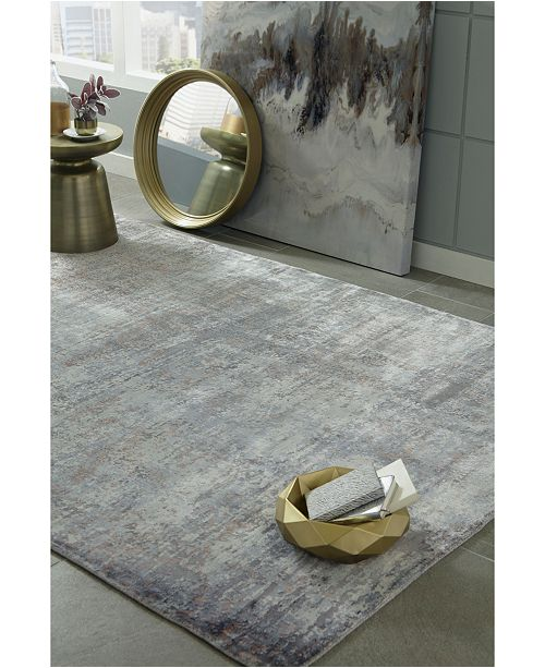 "Kas Indulge Pulse 0801 Slate 3'3"" x 5'3"" Area Rug"