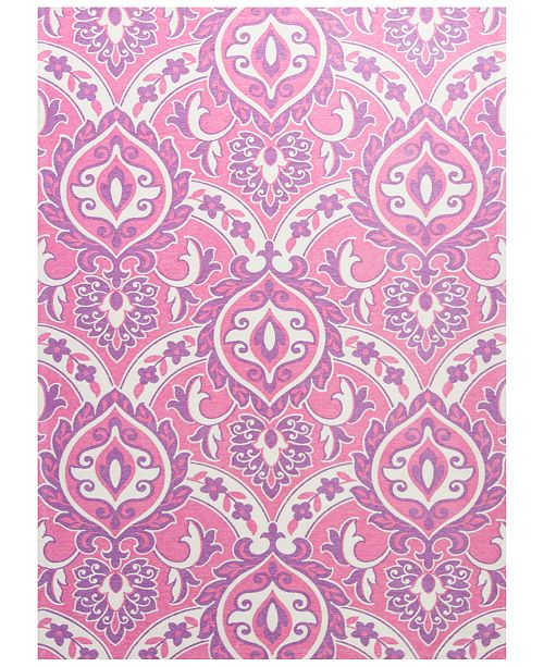 "Kas Retreat Mackenzie 132 Pink 6'7"" x 9'6"" Area Rug"