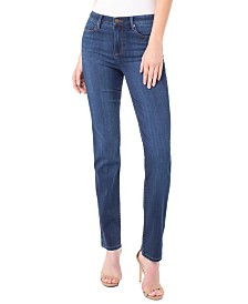 Sadie Straight Leg Jean In Silky Soft Stretch Denim
