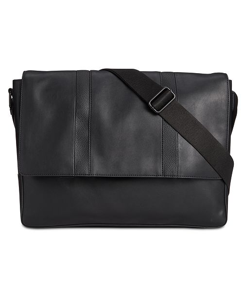 Calvin Klein Men's Faux-Leather Messenger Bag