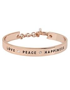 'LOVE', 'PEACE' & 'HAPPINESS' Affirmation Toggle Bracelet
