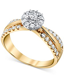 Diamond (1/2 ct. t.w.) Engagement Ring in 14k Gold & White Gold