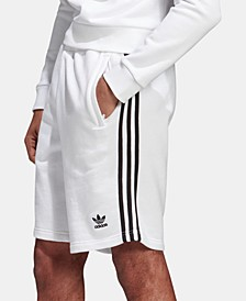Men's French Terry Three-Stripe Shorts