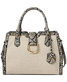 Lauren Ralph Lauren Kenton Pebble Embossed City Satchel