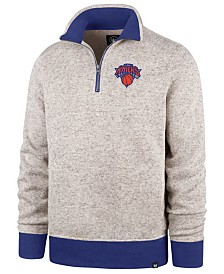 '47 Brand Men's New York Knicks Kodiak Quarter-Zip Pullover