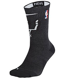 Nike Men's San Antonio Spurs Elite Team Crew Socks