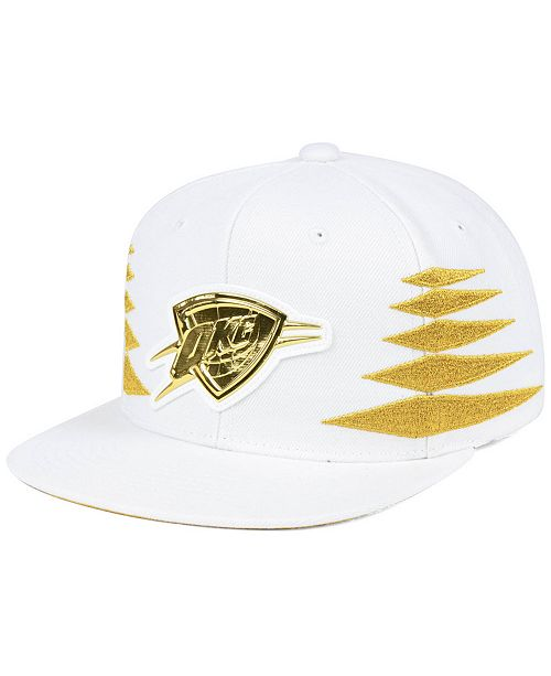 competitive price cute cheap 100% quality Mitchell & Ness Oklahoma City Thunder Gold Diamonds Snapback Cap ...