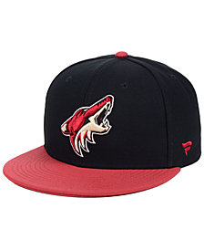 Authentic NHL Headwear Arizona Coyotes Basic Fan Fitted Cap