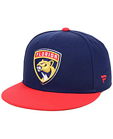 Authentic NHL Headwear Florida Panthers Basic Fan Fitted Cap