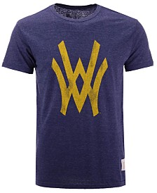 Retro Brand Men's West Virginia Mountaineers Retro Logo Tri-Blend T-Shirt