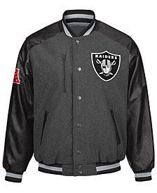 G-III Sports Men's Oakland Raiders Heavy Hitter Player Snap Front Jacket