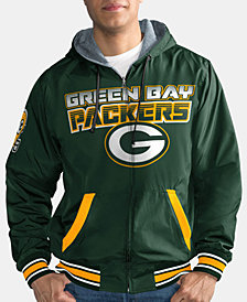 G-III Sports Men's Green Bay Packers Hot Shot Player Front Zip Jacket