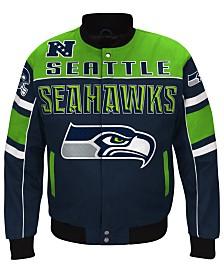 G-III Sports Men's Seattle Seahawks Blitz Front Zip Jacket