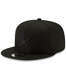 New Era Miami Marlins Triple Black 9FIFTY Snapback Cap