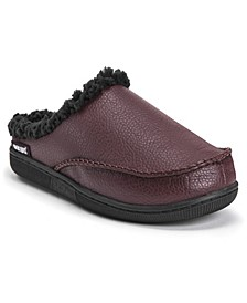 Men's Faux Leather Clog Slippers