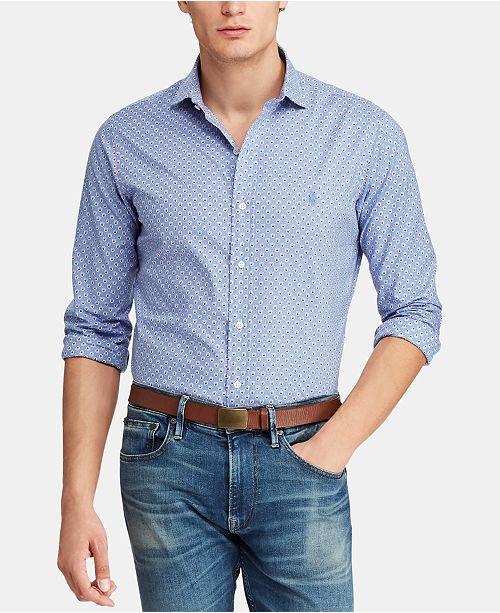 Polo Ralph Lauren Men's Classic Fit Floral Poplin Shirt
