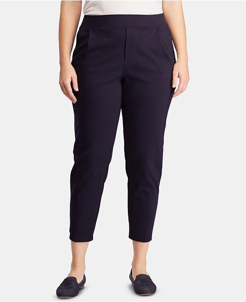 Lauren Ralph Lauren Plus Size Ponté-Knit Jogger Pants