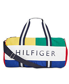 Tommy Hilfiger Men's Dougie HP Colorblocked Logo Duffel Bag, Created for Macy's