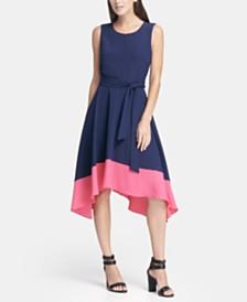 DKNY Contrast Hem Handkerchief Dress, Created for Macy's