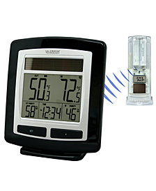 LaCrosse Technology Solar Powered Temperature and Humidity Station with Solar Sensor Weather Station