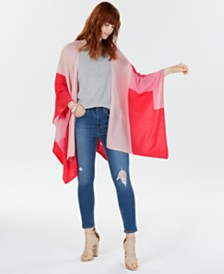 Charter Club Colorblocked Cashmere Wrap, Created for Macy's