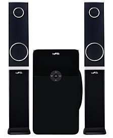 Befree Sound 2.1 Channel Bluetooth Multimedia Wired Speaker Shelf Stereo System