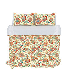 Bella Duvet Cover Set, King, Melon