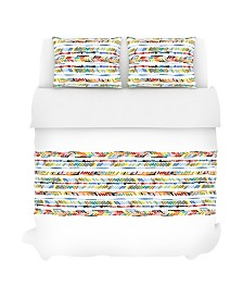 Crosby Duvet Set, King, Prism