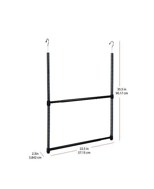 Oceanstar 2-Tier Portable Adjustable Closet Hanger Rod