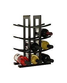 12-Bottle Bamboo Wine Rack