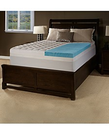 """4.5"""" Comforpedic from Beautyrest Gel Twin Memory Foam with Fiber Topper Cover"""